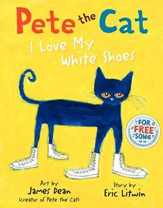 Create a Pete the Cat Craft inspired by James Dean & Eric Litwin's picture book: Pete the Cat: I Love My White Shoes. Free Template Available!