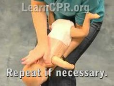 First Aid For A Choking Infant - YouTube
