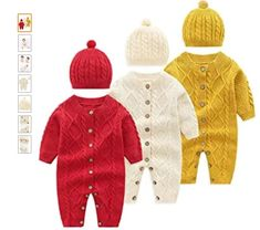 Material: Premium cotton knit. Zero pollution. Health for your baby's delicate skin. Super soft and cozy Sweater hooded one-piece with bear ear and jumpsuit with hat, a must have in cool and cold weather, super cute and warm for babies girl in fall and winter. Winter Baby Clothes, Baby Winter, Warm Outfits, Winter Outfits, Sweater Making, Baby Sweaters, Hooded Sweater, Outfit Sets, Cold Weather