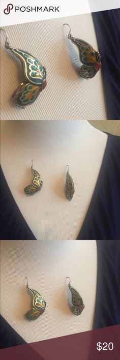 Lucky Brand Earrings Colorful butterfly earrings from Lucky! So beautiful and fun. Lucky Brand Jewelry Earrings