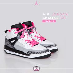"Today on 03.12.14 the release of the Air Jordan Spizike GS ""Hyper Pink""! Be quick ladies be they sold out!   Link: http://bit.ly/spizikepink  #sneakerbaas #baasbovenbaas #jordan #Spizike #pink"
