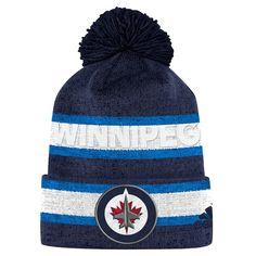 b20237023de Men s Winnipeg Jets adidas Blue Team Cuffed Knit - Hat