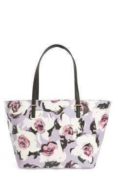 Loving this sugared lavender Kate Spade structured tote.