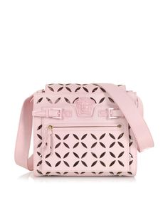 80bd24ee49b9 Versace Pink Perforated Nappa Leather Shoulder Bag at FORZIERI Versace  Pink