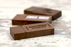 Dark Wood USB Flash Drives - all from USB2U, all stunning and all can be printed or engraved. (Dark and Light wood options available)