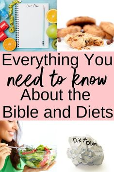 The Bible talks about everything. It even has a lot to say about diets. Did you know that you can turn to the Word to develop the best diet? Best Weight Loss Program, Weight Loss Plans, Healthy Diet Plans, Healthy Weight, Healthy Meals, Healthy Food, Lose Weight Naturally, How To Lose Weight Fast, Losing Weight