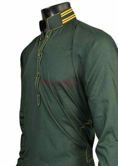Latest Men's Eid Kurta Collection 2013 By Pakistani Brand Edge High Fashion Men, African Men Fashion, Mens Fashion, Pathani For Men, New Outfits, Male Outfits, Pathani Kurta, Pakistani Kurta, Moslem