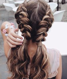 Pig tail braids hair styles for medium and long hair