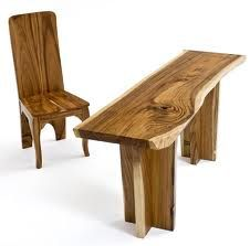Natural Edge Slab Desk - Item - Custom Sizes Available - Sustainable Woods - Natural Wood Furniture