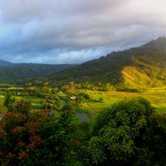 A beautiful valley in Kauai, Hawaii.