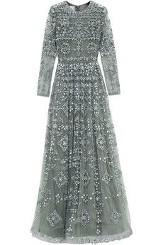 Valentino Mirror-embellished tulle gown | NET-A-PORTER