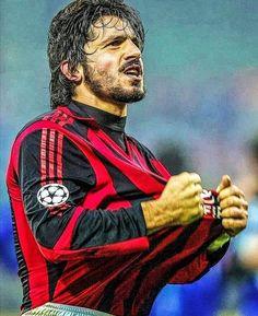 Best Football Players, Football Team, Gennaro Gattuso, Milan Wallpaper, Football Tattoo, Milan Football, Ac Milan, Dna, Hot Guys