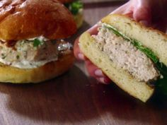 Chicken Burgers with Garlic-Rosemary Mayonnaise Recipe : Giada De Laurentiis : Food Network - FoodNetwork.com