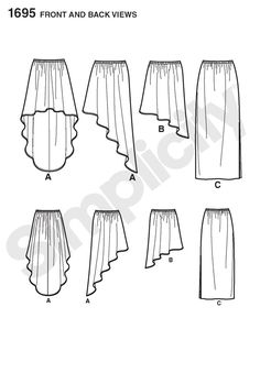 1695 Learn to Sew Misses' Pull-on Skirts Share on facebook Share on myspace Share on twitter Share on kaboodle Share on thisnext Share on stumbleupon More Sharing Services Misses' pull-on skirts with elastic waist can be made in straight maxi length or in two lengths with hi-low hem. Simplicity Learn to Sew Pattern Collection has easy sewing directions, perfect for beginners