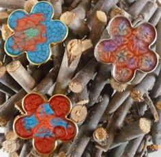 Handpainted flower rings