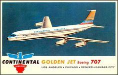 Viewliner Ltd.: Boeing 707 - Pure Jet Flight - 1960s Postcards