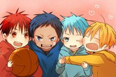 Kuroko, Kise, Kagami and Aomine