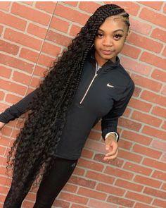 85 Box Braids Hairstyles for Black Women - Hairstyles Trends Black Girl Braids, Braided Hairstyles For Black Women, African Braids Hairstyles, Braids For Black Hair, Girls Braids, Weave Hairstyles, Protective Hairstyles, Protective Styles, Lemonade Braids Hairstyles