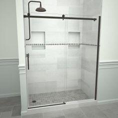 Frameless Sliding Shower Doors, Sliding Doors, Chrome Handles, Door Handles, Tile Redi, Bathtub Doors, Shower Inserts, Glass Shower Enclosures, House Tiles