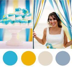 azul, amarelo e branco = nosso casamento!