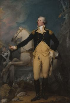 General George Washington at Trenton - Painting by John Trumbull 1792
