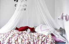 White walls, bright textiles – a children's room, Swedish style | #IKEAIDEAS at Sara's home