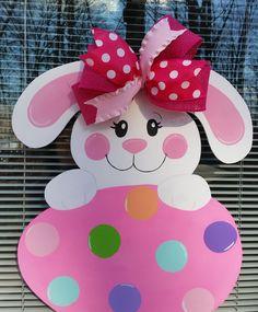 Bunny Door Hanger.  Easter Door Hanger.Easter Bunny Decoration. by MoniLulis on Etsy https://www.etsy.com/listing/502039465/bunny-door-hanger-easter-door