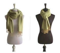 Baumwollschal Olivgrün Beige   Traditionelle Handarbeit aus Thailand   Größe: ca. 180 x 60 cm   Material: 100% Baumwolle   Farbe: Olivgrün Beige