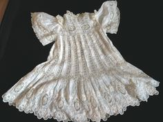 Elaborate Antique Victorian French BEBE Jumeau Fancy Lace Doll Child's Dress | eBay