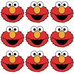 Elmo Eyes Nose and Mouth Template Best Of Elmo Eyes and Nose Template to Print for Favor Bags Elmo First Birthday, Monster Birthday Parties, Elmo Party, First Birthday Parties, Elmo Birthday Party Printables, Mickey Party, Dinosaur Party, Dinosaur Birthday, Birthday Fun