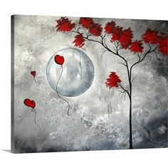 Abstract Canvas, Abstract Print, Canvas Art, Canvas Prints, Art Prints, Acrylic Canvas, Big Canvas, Painting Canvas, Moon Painting