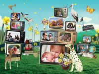 Fotocollage Televisies