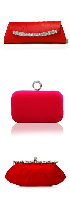 """Elegant and smooth red purses for evenig parties. Take a look! """"I want to win it from LightInTheBox. @LightInTheBox"""