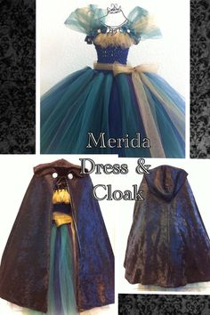 Merida from Brave Tutu Dress with Cloak by LilAngelsTutus on Etsy, $75.00