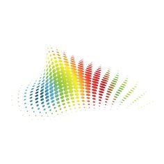 rainbow halftones ❤ liked on Polyvore
