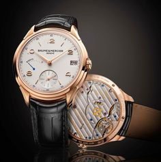 TimeZone : Industry News » Watches & Wonders 2014: Baume & Mercier Clifton 8 Day Power Reserve