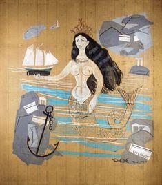 Γιάννης Τσαρούχης Artist Painting, Artist Art, Watercolor Paintings, Mermaid Quilt, Greece Painting, Street Art, Chalk Pastel Art, Tarot, Winter Art Projects