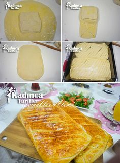 Sivas Katmeri Recipe, How To? - Womanly Recipes - Delicious, Practical and Delicious Food Recipes Site - Pizza Recipes Turkish Recipes, Italian Recipes, Ethnic Recipes, Fish And Meat, Fish And Seafood, Turkish Sweets, Turkish Dessert, Recipe Sites, Fresh Fruits And Vegetables