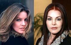 {*Beautiful Priscilla Presley The Elvis days on the left & these days on the right at 70yrs still Great Priscilla*}2015.