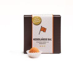 De Nederlandse Bal. Luxe box met 9 handgemaakte bonbon-ballen.