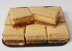 Prajitura cu biscuiti,mere si crema de vanilie