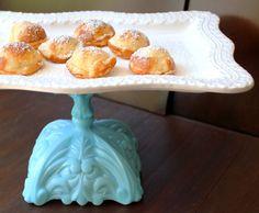 #TiffanyBlue Vintage-Inspired Dessert Platter Pedestal by The Roche Studio, www.TheRocheStudio.com