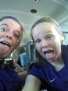Me and megan on the bus