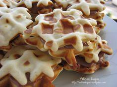 Waffles With Chocolate Cream