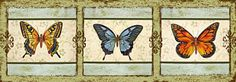 Butterfly Trio-3 Print by Jean PLout