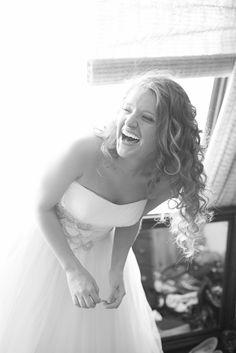 Laughing Bride Getting Ready in Kenai, Alaska Kenai Alaska, Laid Back Wedding, Bride Getting Ready, Inspirational Photos, Get Ready, Real Weddings, Laughing, Crowd, One Shoulder Wedding Dress