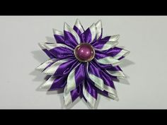 100) Tutorial bunga kanzashi || Kanzashi flower - YouTube