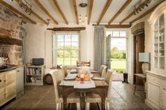 The bright and stylish dining area of Eirianfa, luxury home stay in North Wales