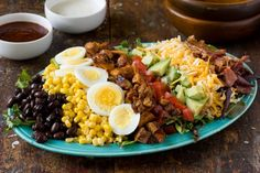 BBQ Chicken Cobb Salads--a Southwestern spin on the American classic.