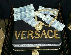 Versace cake. Versace theme boyfriends 27th surprise party. done by IG: @sotostylesweets @marisolcortez17
